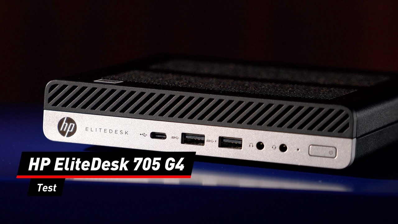 Deutlich geschrumpft: HP EliteDesk 705 G4 im Test