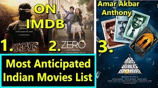 KGF Ranked First In Most Anticipated Indian Movies List On IMDB I SRK 2nd Amar Akbar Anthony 3rd