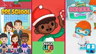 Best Compilation School Games for Kids - My Town: School, Toca Life: School and Sunny School Stories