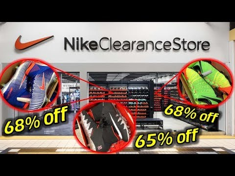 SHOPPING AT THE 1st NIKE CLEARANCE OUTLET! - Amazing Soccer Cleat Finds And Pick Ups!