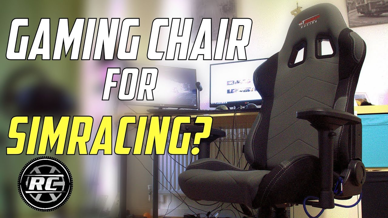 Sim Racing With A Gaming Chair Gtomega Pro Racing Office Chair Review Youtube