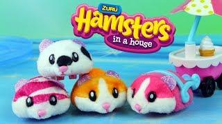 ZURU Hamsters in a house • Szalone chomiki • Kolekcja zwierzaków • Openbox