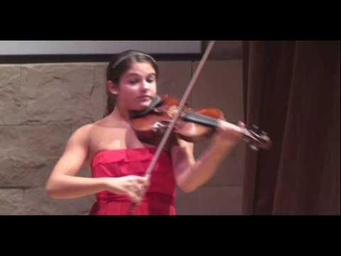 Maia Cabeza en la semifinal del Concurso de Violín Buenos Aires 2010 / Violin Competition