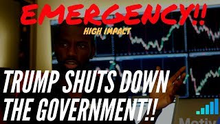 Emergency!!! |   US Government Shuts Down | Forex Fundamentals (Reuploaded)