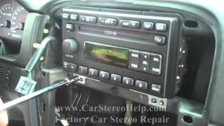 How to Ford Explorer radio Car Stereo CD Player Removal display not working
