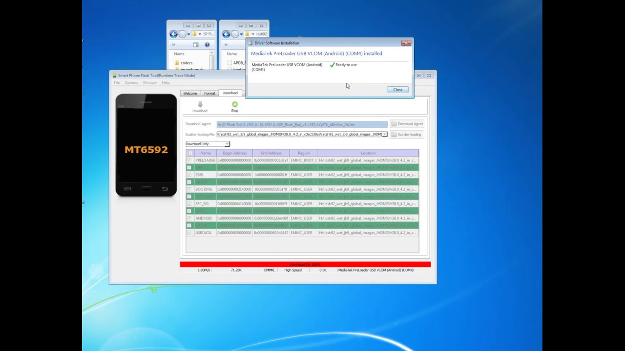 mediatek usb vcom drivers mt6592 download