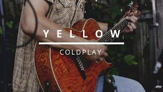 yellow - coldplay (guitar cover) easy chords