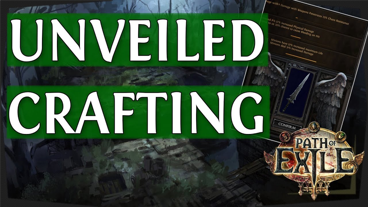 Unveiling PoE Crafting Mods From Betrayal League - Path of Exile 3 5 (2019)