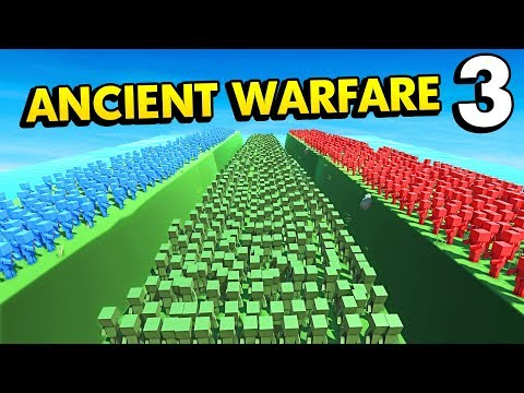 INFINITE ZOMBIES VS BLUE VS RED IN ANCIENT WARFARE 3 (Ancient Warfare 3 Funny Gameplay)