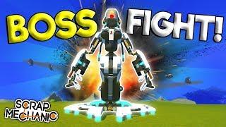 AI ROBOT BOSS FIGHT! - Scrap Mechanic Creations Gameplay - Best Builds