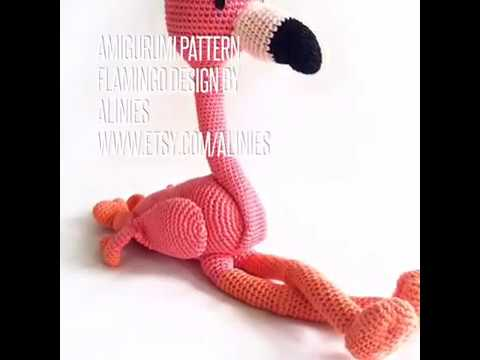 Amigurumi Pattern Flamingo Desing By Alinies Youtube