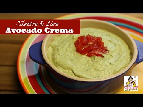 Avocado Crema With Cilantro & Lime ~ Avocado Cream ~ Amy Learns To Cook