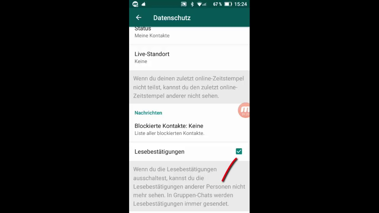 Whatsapp Lesebestätigung Ausschalten