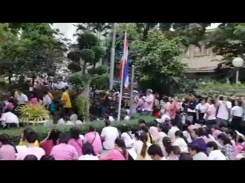Thai citizens gather at Bangkok's Siriraj Hospital for King Bhumibol Adulyadej