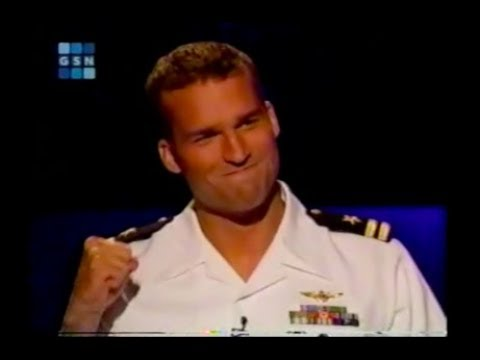 Max Schuman on Who Wants to be a Millionaire 10/8/02 full show (Meredith flirts w/ navy pilot pt 2)