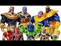 Thanos appeared with Marvel Villains, Go~! Avengers, Iron Man, Spider Man, Hulk Toys Play