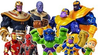 Thanos appeared with Marvel Villains, Go~! Avengers, Iron Man, Spider Man, Hulk Toys Play