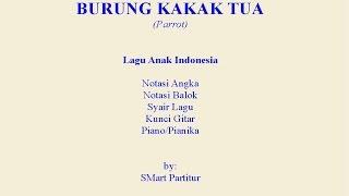 Notasi Lagu | Burung Kakak Tua  – Notasi Lagu Anak Indonesia