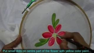 Fabric Painting in Telugu