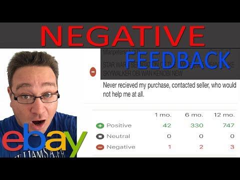 EBAY SCAMMER LEAVES NEGATIVE FEEDBACK