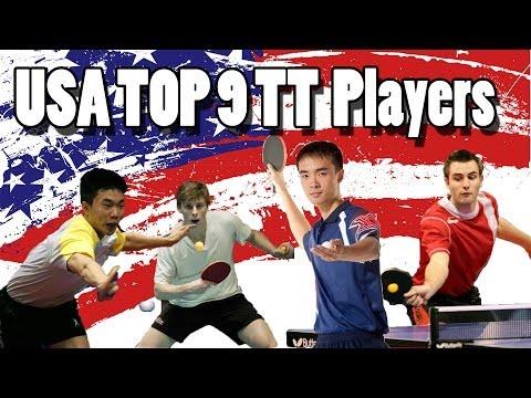 TOP 9 USA Table Tennis Players