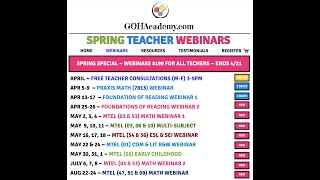 GOHACADEMY UPCOMING WEBINARS, VIDEOS, AND NEW ONLINE CONTENT