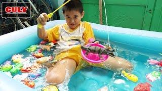 Đồ chơi câu cá sấu, tôm, cua tắm hồ bơi bơm hơi fishing game pool toy for kids