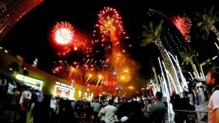 Pokaz fajerwerków pod Burj Khalifa - Dubaj