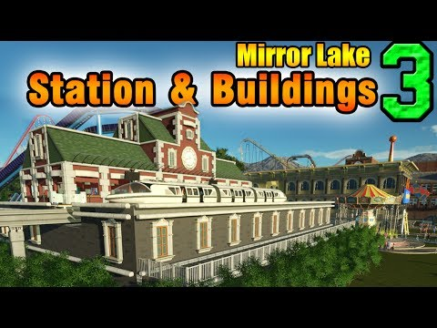 Planet Coaster - Train Station and Buildings - Mirror Lake ep. 3