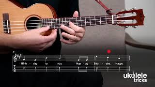 Happy Birthday on #Ukulele | Easy One-String Fingerpicking Play-Along