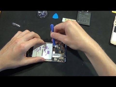Разбокра и замена аккумулятора в Xiaomi Redmi Note 3 Pro