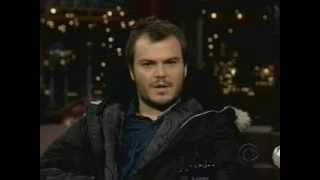 Tenacious D's Jack Black's promoting Saving Silverman on Letterman (2/2/01)