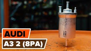 AUDI A3 Degvielas filtrs maiņa: rokasgrāmata