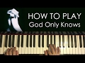 Images HOW TO PLAY - John Legend, Cynthia Erivo - God Only Knows (Piano Tutorial Lesson)