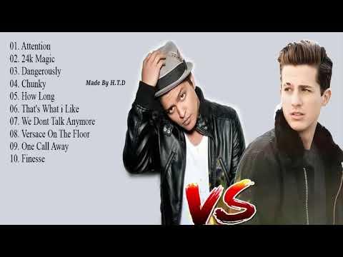 Bruno Mars Charlie Puth Maggiori successi Album completo - Migliori canzoni di Bruno Mars