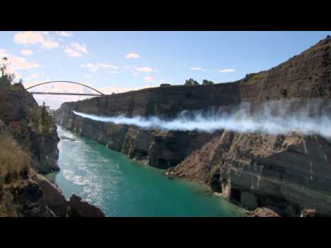 Red Bull Corinth Canal air crossing