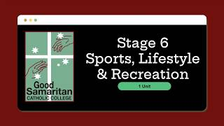 Sport, Lifestyle and Recreation Studies (1 Unit)