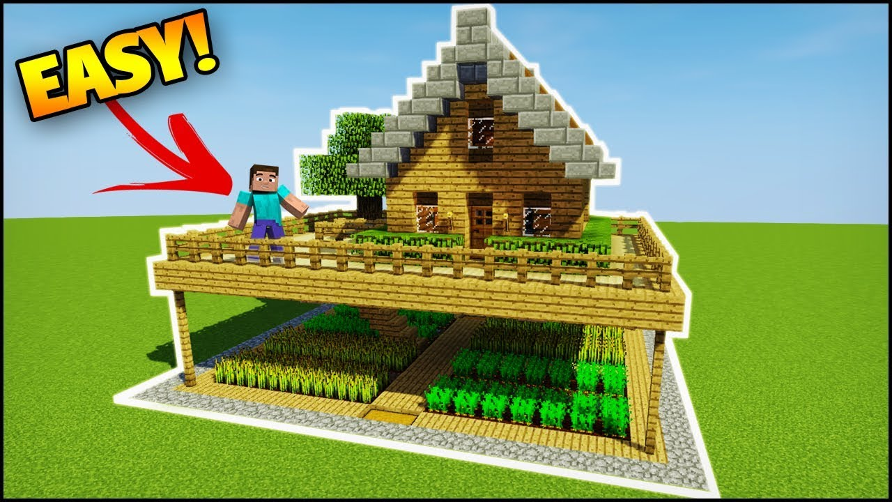 Minecraft: Starter House Tutorial - How to Build a Survival House in  Minecraft (Easy)