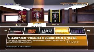 2K19 MY TEAM PACK OPENING! 95 PENNY HARDAWAY FROM SHAQ 10 PACK!