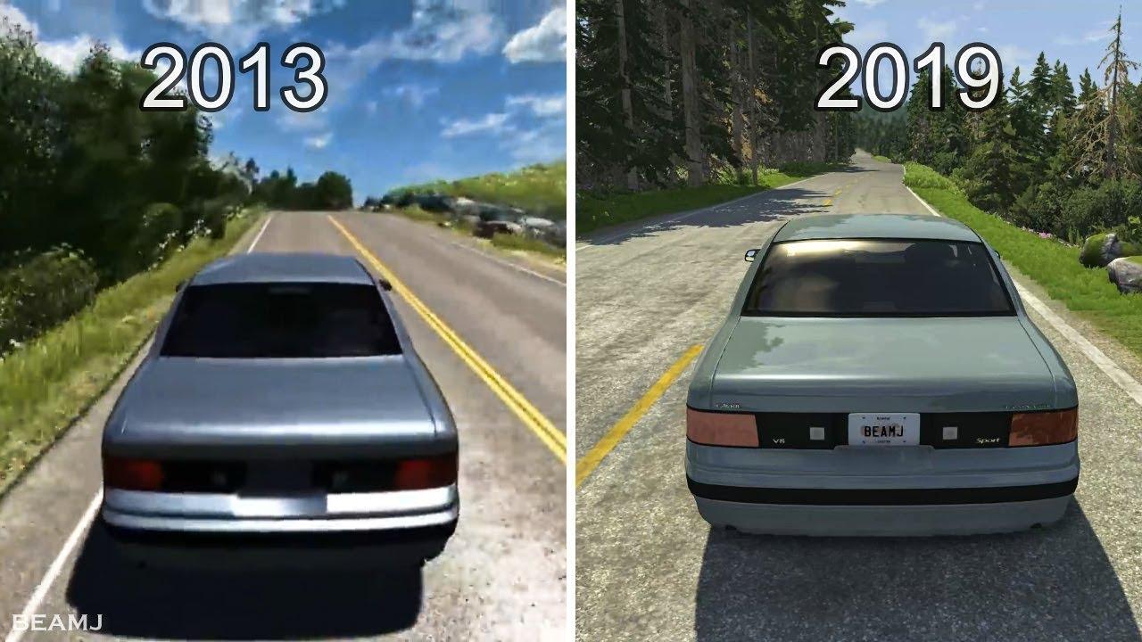 2013 Beamng Drive Vs 2019 Beamng Drive Evolution And Comparison Youtube