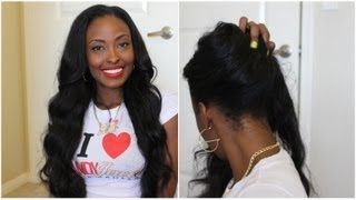 One of fabulasityisme's most viewed videos: Installing My Versatile U-Part Wig: Candy Jewels Hair Malaysian Wavy