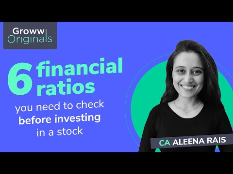 Stock Market for Beginners: Must know Financial Ratios Before Investing in a Stock   CA Aleena Rais