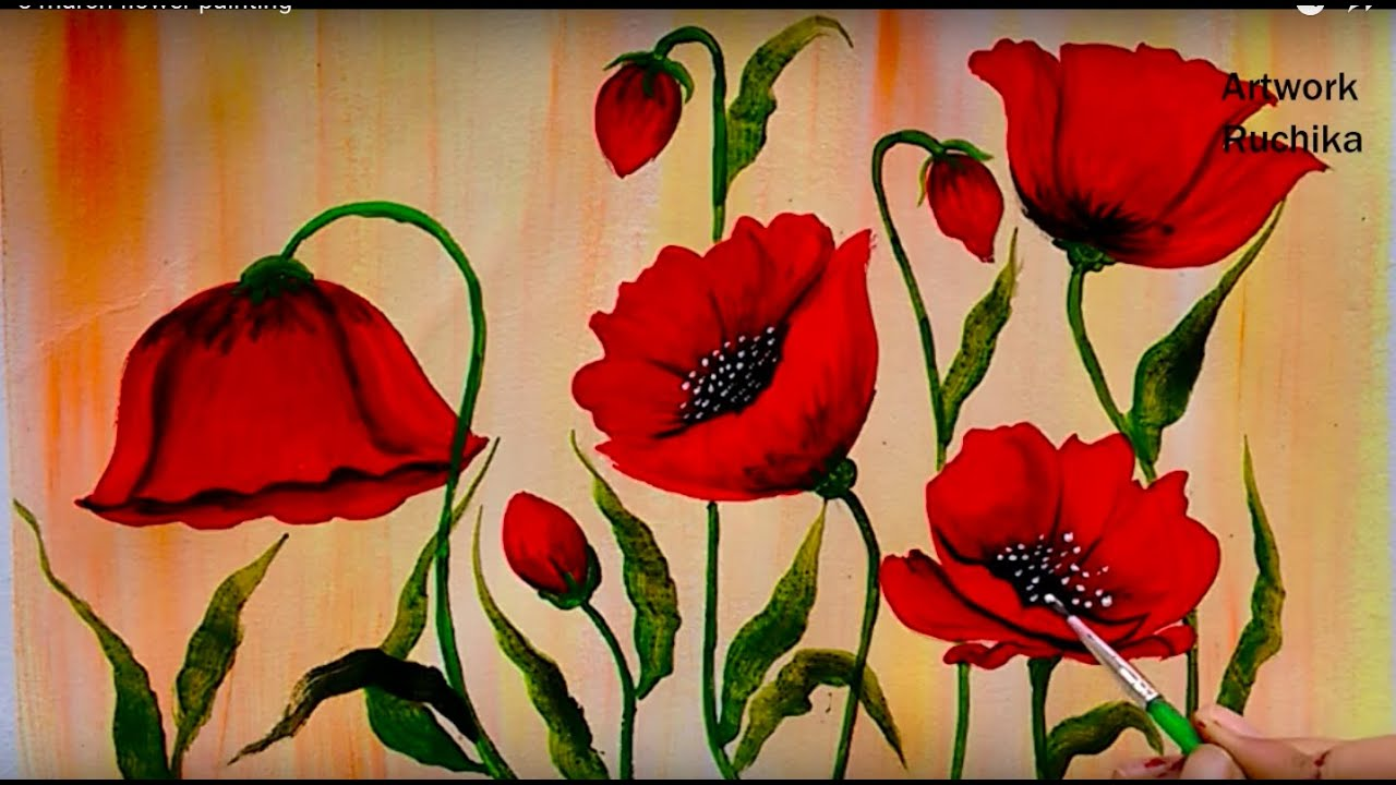 PINK POPPIES SPEED DEMO WATERCOLOR PAINTING - YouTube |Watercolor Poppies Pink