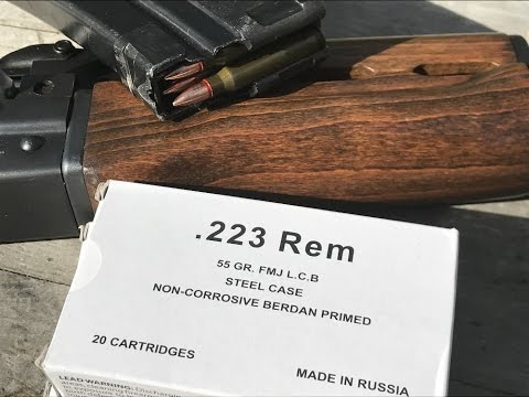 .223 Remington, 55gr FMJ Mil Spec Load for SG Ammo by Barnaul, Velocity Test