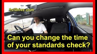 Paul's standards check diary 2 - Can you change the time of your standards check?