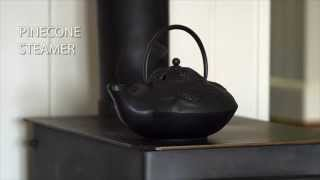 Cast Iron Wood Stove Steamer With Pine Cone Design Sku#12130 - Plow & Hearth