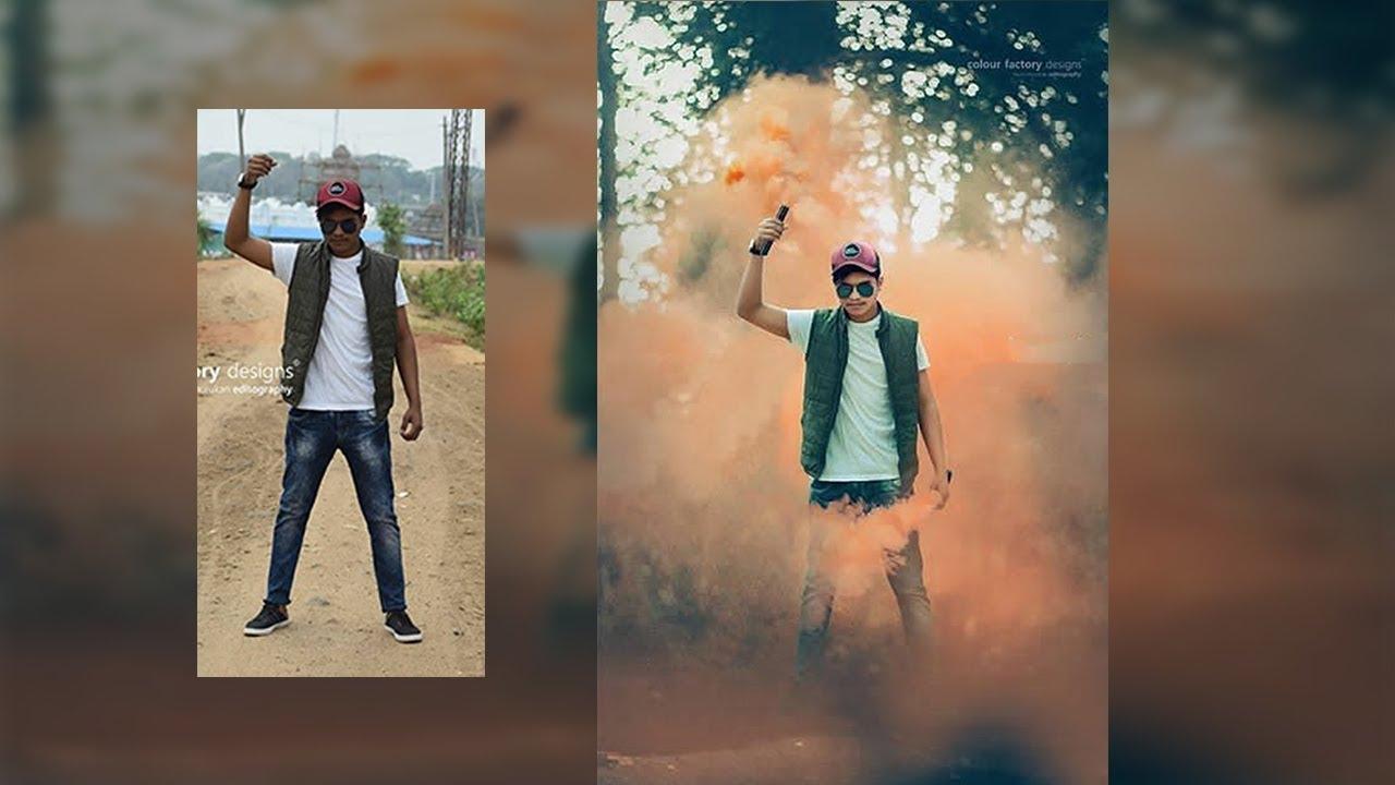 Smoke bomb effect | photoshop manipulation tutorial