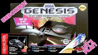 UNBOXING! Sega Genesis Mini & Retro-Bit 6 Button Arcade Pad - LET'S PLAY
