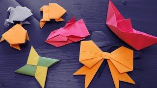 Оригами - Как сделать КОРАБЛИК, машинку, СЮРИКЕН, лягушку и БАНТИК из бумаги(Поделки из бумаги. Вы вспомните или научитесь делать игрушки в технике ОРИГАМИ (origami). В этом видео вы узнает..., 2016-04-08T05:08:50.000Z)