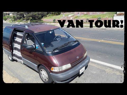VAN TOUR! l 95' Toyota Previa l #Vanlife Vlog 02